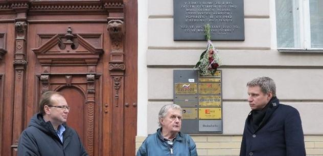 Praha 5 uctila památku popraveného hrdiny odboje MUDr. Oldřicha Hlaváče