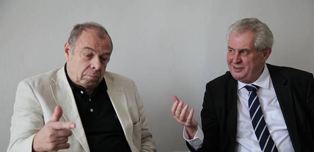 Překvapivá schůzka: Šéf odborů Zavadil podpořil Miloše Zemana