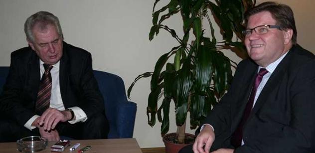 Překvapení. Miloš Zeman se dnes sešel se Zdeňkem Škromachem