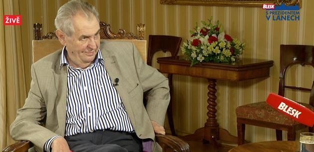 Prezident Zeman se postavil za Jaromíra Jágra: Zeptal bych se těch internetových blbečků, co v životě dokázali. Pak vyprávěl vtip o Babišovi, popravišti a gulagu
